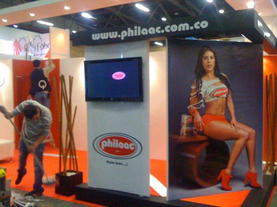 stand feria de la madera philaac foto modelo corferias expomadera diseño páginas web estrategia ventas